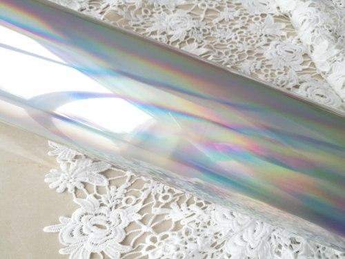 Термотрансферная пленка зеркальная, цвет золото и голография
