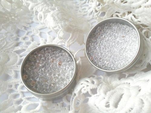 Кристаллы 4,5 мм и 3 мм, цвет прозрачный