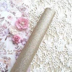 Глиттерная ткань, цвет светлое золото