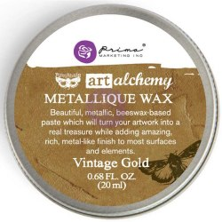 Воск Metallique Wax by Finnabair, Prima Marketing Ink цвет Vintage Gold