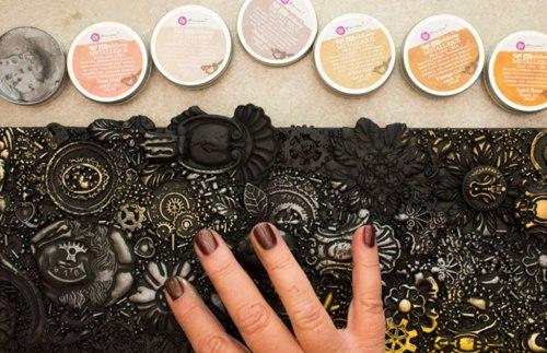Воск Metallique Wax by Finnabair, Prima Marketing Ink цвет Vintage Gold