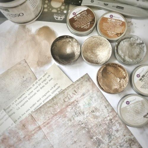 Воск Metallique Wax by Finnabair Prima Marketing Ink цвет Old Silver
