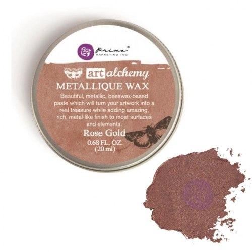 Воск Metallique Wax by Finnabair, Prima Marketing Ink цвет Rose Gold