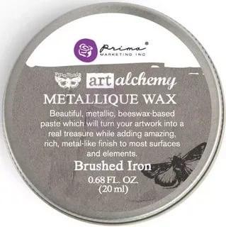 Воск Metallique Wax by Finnabair, Prima Marketing Ink цвет Brushed Iron