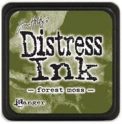 Дистресс чернила мини, Distress Ink - Forest Moss Ranger 30х30 мм