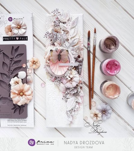 Набор скрапбумаги 30х30 см с золотым фольгированием, Prima Marketing Ink Pretty Pale