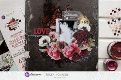Набор скрапбумаги А4 формата, Prima Marketing Ink Midnight Garden