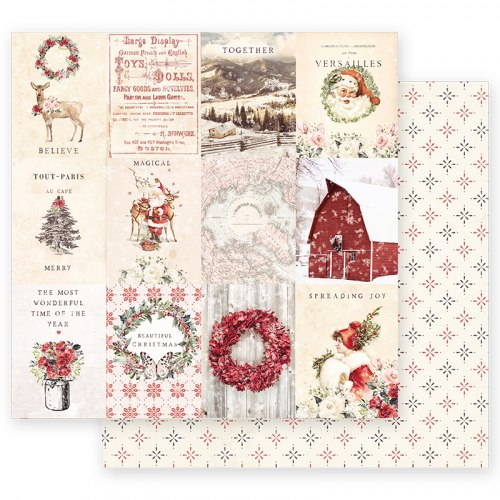 Набор двусторонней бумаги 30,5х30,5 см с золотым фольгированием, Prima Marketing Ink Christmas In The Country
