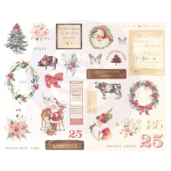 Chipboard stikers, чипборд, Prima Marketing Ink Christmas In The Country