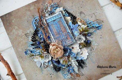 """Набор бумаги 11 листов, 190гр. 30,5*30,5см Summer Studio """"Something blue"""""""