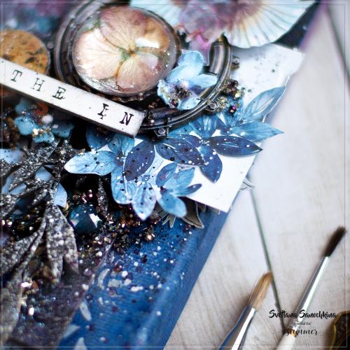 """Лист двусторонней бумаги """"Depth of nature"""" 30,5*30,5см, коллекция """"Something blue"""" Summer Studio"""
