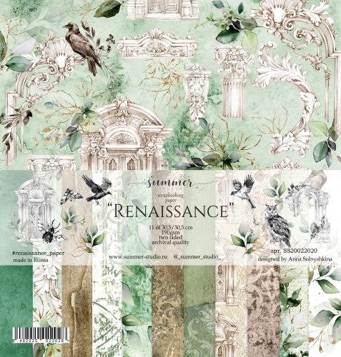 """Набор двусторонней бумаги 11шт, 30,5*30,5см, 190гр. Summer Studio """"Renaissance"""""""
