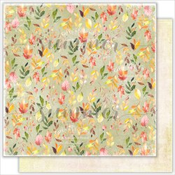 "Лист двусторонней бумаги ""Leaf fall"" 30,5*30,5см, 190гр. Summer Studio Autumn stories"
