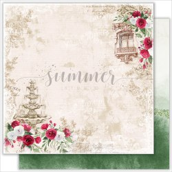 """Набор двусторонней бумаги 11шт, 30,5*30,5см, 190гр. Summer Studio """"Antique garden"""""""
