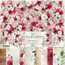 """Набор бумаги 11шт, 30,5*30,5см, 190гр. Summer Studio """"Antique garden"""""""