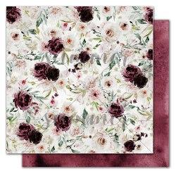 "Лист двусторонней бумаги ""Mysterious flowers"" 30,5*30,5см, 190гр. Summer Studio Mystery"