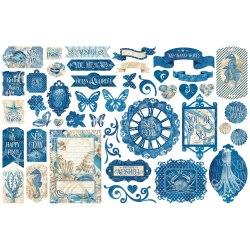 Набор высечек Okean Blue, Graphic 45