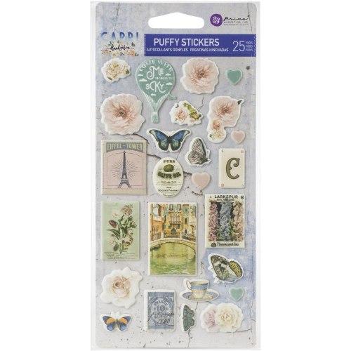 Puffy Stickers 25 шт., коллекция Capri, Prima Marketing Ink