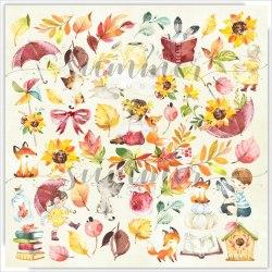 Лист для вырезания 30,5 х 30,5см, Summer Studio Autumn stories