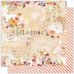 """Лист двусторонней бумаги """"Melody of soul"""" 30,5*30,5см, Summer Studio Warm autumn"""