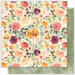 """Лист двусторонней бумаги """"Autumn garden"""" 30,5*30,5см, Summer Studio Warm autumn"""