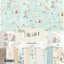 "Набор двусторонней бумаги 16шт, 20х20 см, 190гр. Summer Studio ""Little sheriff"""