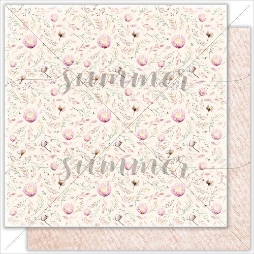 "Лист двусторонней бумаги ""Baby garden"" 30,5*30,5см, 190гр. Summer Studio Mother's tenderness"