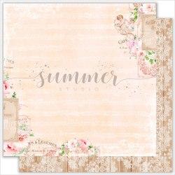 """Лист двусторонней бумаги """"Tender moments"""" 30,5*30,5см, 190гр. Summer Studio Vintage wedding"""