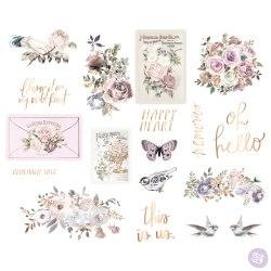 Chipboard stikers, чипборд, Prima Marketing Ink Lavender Frost