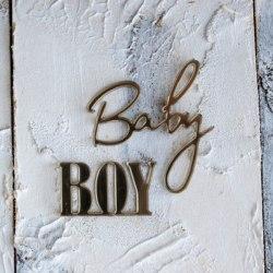 "Декор из зеркального пластика ""Baby boy"", Лавандовый комод"