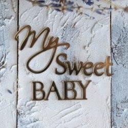 "Декор из зеркального пластика ""My sweet baby"", Лавандовый комод"