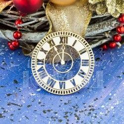 """Чипборд """"Новогодние часы"""", Лавандовый комод"""