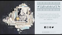 Набор скрапбумаги 30х30, 24 листа + набор высечек, коллекция Wonderland Kaisercraf