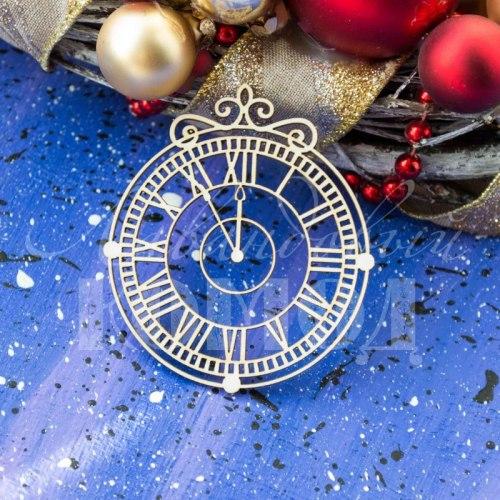 """Чипборд """"Новогодние часы -11"""", Лавандовый комод"""