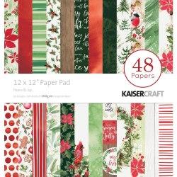 Набор скрапбумаги 30х30, 24 листа + набор высечек, коллекция Peace & Joy Kaisercraf