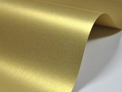 Дизайнерский картон Majestic Real Gold, 250 г/м2.