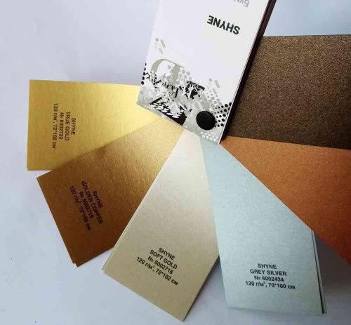 Дизайнерский картон Shyne True Gold, 250 г/м2.