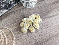 Розы 2 см, цвет айвори, 12 шт.