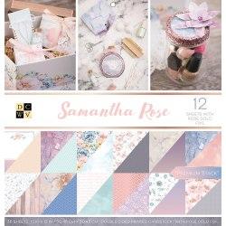 Набор бумаги Samantha Rose 30 х 30, 18 двухсторонних листов, 6 из которых с фольгированием - розовое золото! DCWV