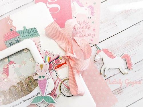Набор бумаги из коллекции Imagine That Girl, 30х30, 12 двусторонних листов + лист с наклейками Echo Park