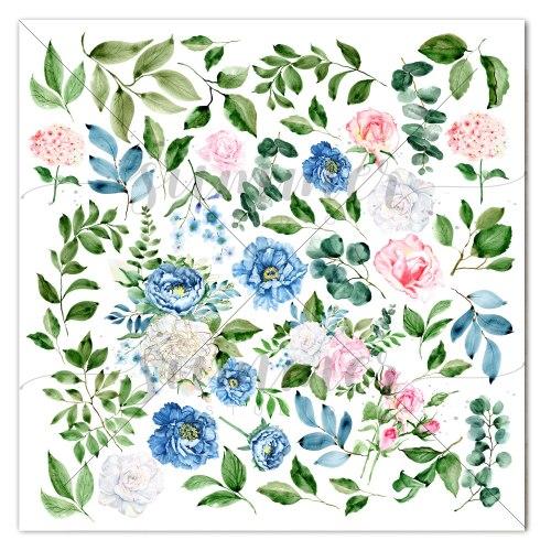Набор двусторонней бумаги 11шт, 30,5*30,5см, 190гр Summer Studio Royal garden