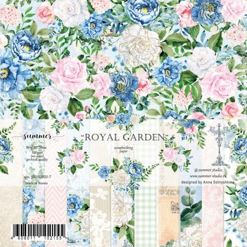 Набор двусторонней бумаги 16шт, 20х20 см, Summer Studio Royal garden