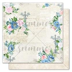 """Лист двусторонней бумаги """"Road of flowers"""" 30,5*30,5см, Summer Studio Royal garden"""
