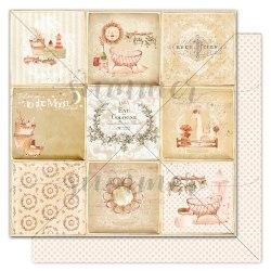 "Лист двусторонней бумаги ""Baby's card"" 30,5*30,5см, Summer Studio Nursery"