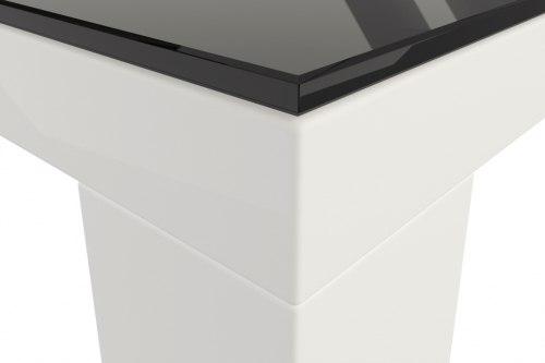 Обеденный глянцевый стол со стеклом Соната HomeLine