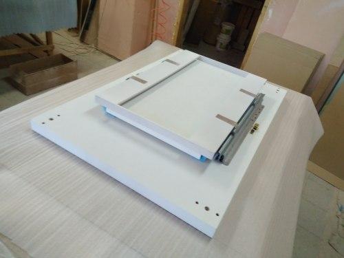 Раскладной обеденный глянцевый стол Солярис-2 HomeLine