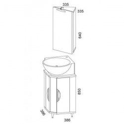 Мебель для ванной Aqwella Дельта 45