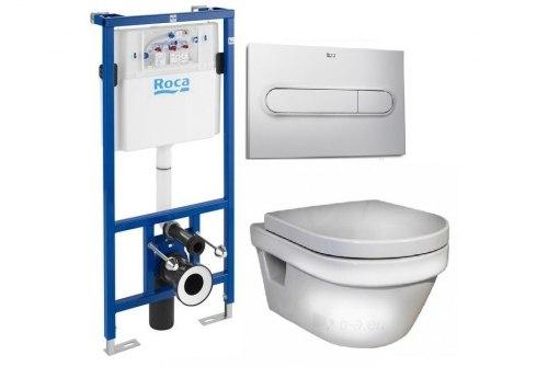 Набор Roca + Gustavsberg Hygienic Flush(безободковый) с крышкой Soft Close