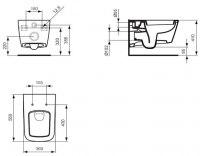 Унитаз подвесной Ideal Standard SimplyU