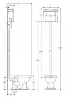 Унитаз напольный Kerasan Retro на высокой трубе